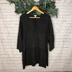 J Jill Pure Jill Gray Dolman Sleeve Sweater